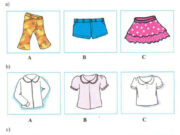 Listen – Unit 2 trang 16 SGK Tiếng Anh 9: Listen and check (√) the letter of the correct picture to show what Mary is wearing.