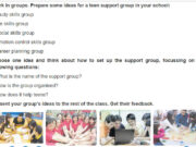 Project Unit 3 Trang 35 SGK Anh 9 thí điểm: Prepare some ideas for a teen support in your school.