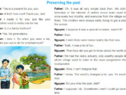 Getting Started Unit 4 Trang 40 SGK Tiếng Anh 9 thí điểm: Read the conversation again and answer the questions.