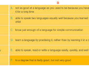 A Closer Look 1 Unit 9 trang 33 SGK tiếng Anh lớp 9 thí điểm:  Choose the correct words in the following phrases about language learning.