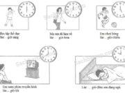 Bài 1, 2, 3, 4 trang 74 Vở bài tập Toán 1: Điền chữ A, B, C, D vào bức tranh thích hợp (theo mẫu)