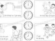 Bài 1, 2, 3 trang 81 Vở bài tập Toán 1 tập 2: Vẽ thêm kim đồng hồ để đồng hồ chỉ thời gian tương ứng