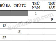 Bài 1, 2 trang 90 VBT môn Toán 2 tập 1: Thứ năm tuần này là ngày 22 tháng 4. Thứ năm tuần trước là ngày 15 tháng 4. Thứ năm tuần sau là ngày 29 tháng 4