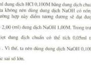 Bài 1, 2, 3 trang 245 SGK Hóa học 12 Nâng cao: Chuẩn độ axit – bazơ