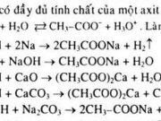 Bài 61. Axit cacboxylic: tính chất hóa học – điều chế và ứng dụng: Giải bài 1, 2, 3 trang 256 Hóa 11 Nâng cao