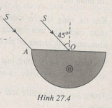 Bài 27.8, 27.9, 27.10 trang 71, 72 SBT Lý 11: Tính góc lệch ứng với tia tới so sau khi ánh sáng khúc xạ ra không khí ?