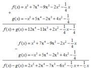 Bài 55, 56, 57 trang 28 SBT Toán lớp 7 tập 2: Chọn số là nghiệm của đa thức 3x – 9?