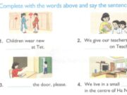 Unit 15. When's Children's Day? trang 60 SBT Tiếng Anh 4 mới: Write about you. what do you do on Teacher's Day?