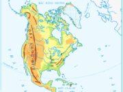 Bài 25. Châu Mĩ – Địa lớp 5: Dựa vào hình 1, hãy chỉ và đọc tên: Các dãy núi cao ở phía tây.