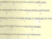 Test Yourself 4 – Kiểm tra cá nhân 4 – Sách bài tập Tiếng Anh 7 thí điểm: Fill each blank in the passage with a word from the box.